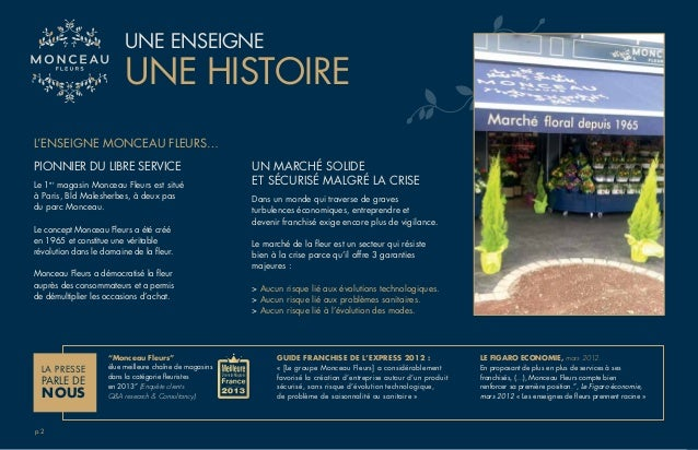 Groupe Monceau Fleurs - Documentation 3 franchises du Groupe Slide 3