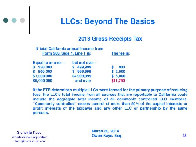 14 03 20 Llcs Beyond The Basics