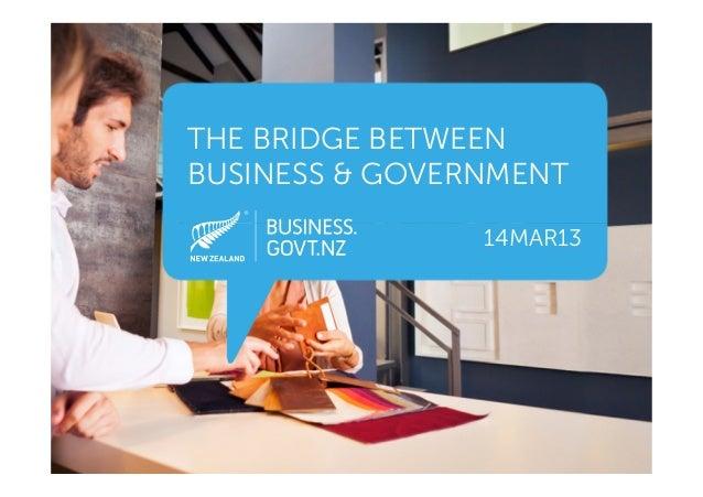 THE BRIDGE BETWEENBUSINESS & GOVERNMENT                14MAR13