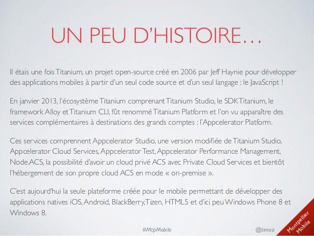 Présentation Appcelerator Platform - Juin 2014 Slide 3