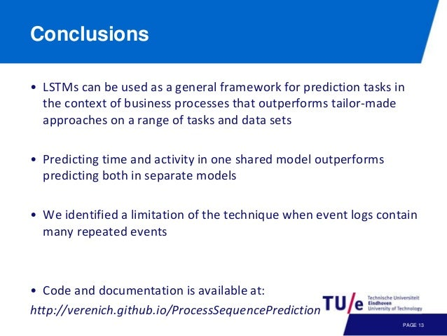 Predictive Business Process Monitoring with LSTM Neural Networks