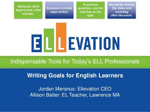 goals for english Smart goals must be specific, measurable, attainable, relevant and time-bound these goals are a way of achieving perfection in oneís profession english teac().