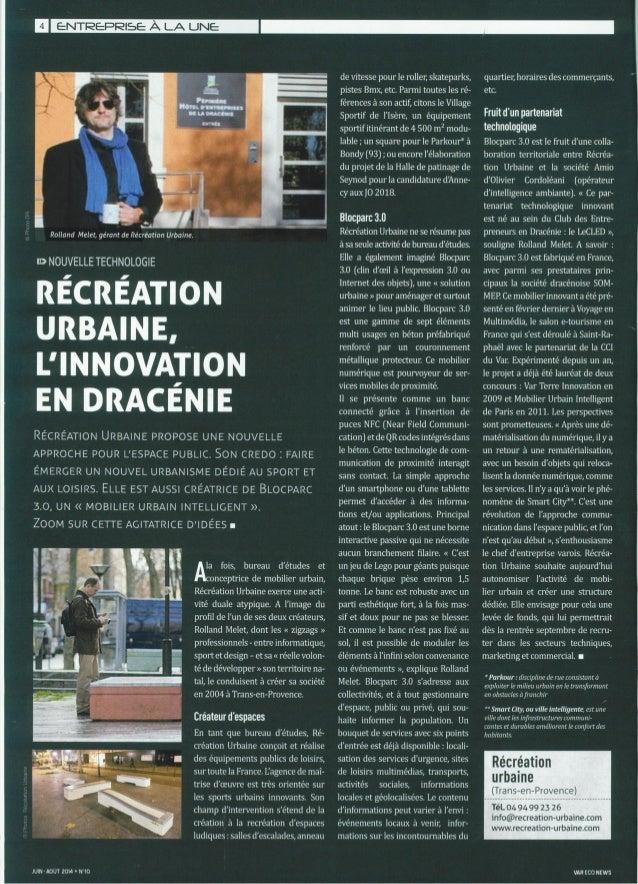 Parution dans n°10 Var Eco news cci juin 2014