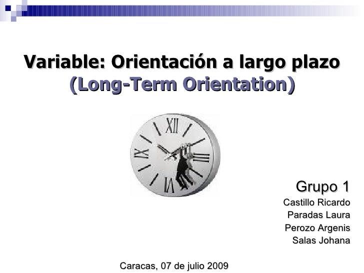 Variable: Orientación a largo plazo      (Long-Term Orientation)                                             Grupo 1      ...