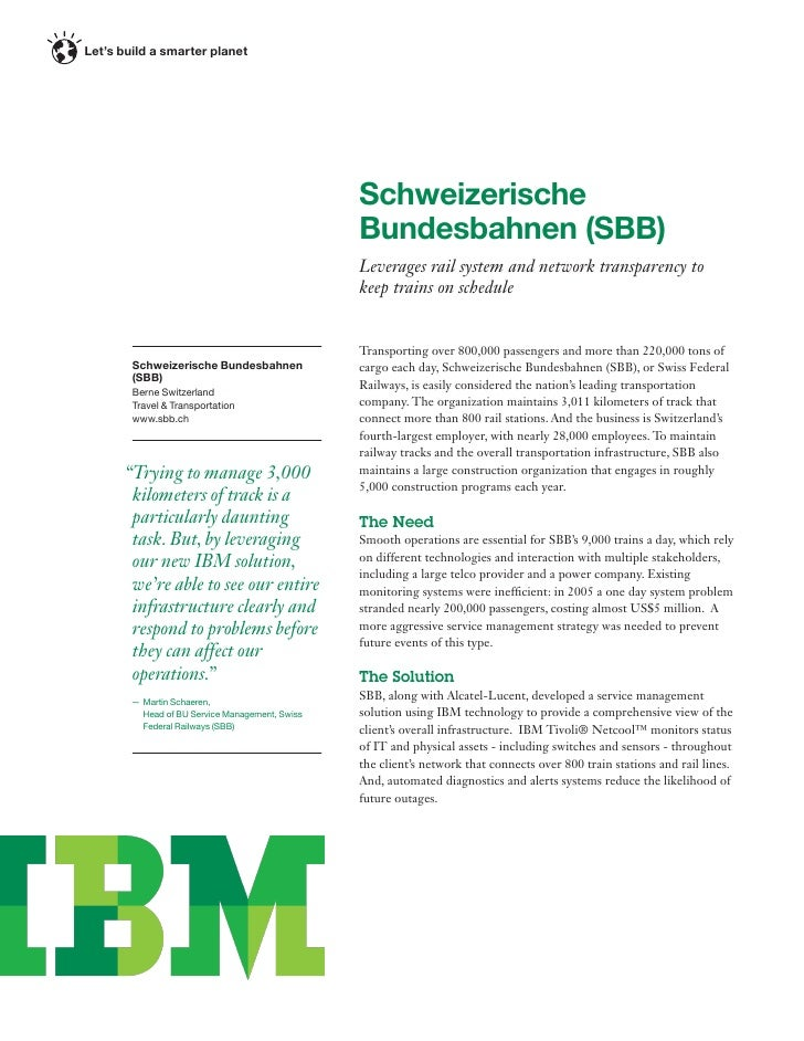 Let's build a smarter planet                                                 Schweizerische                               ...