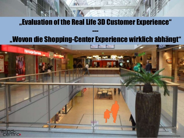"""Evaluation of the Real Life 3D Customer Experience""  1  ---  ""Wovon die Shopping-Center Experience wirklich abhängt"""
