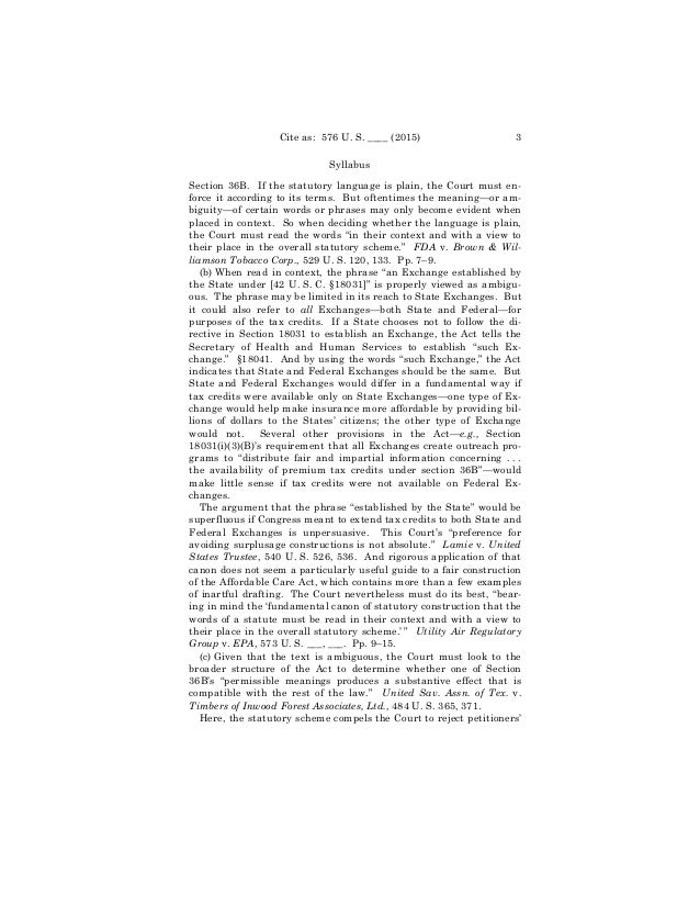 Full text of the Supreme Court's 6-3 Obamacare ruling Slide 3