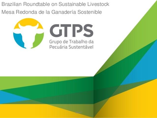 Brazilian Roundtable on Sustainable Livestock Mesa Redonda de la Ganadería Sostenible  DRAFT