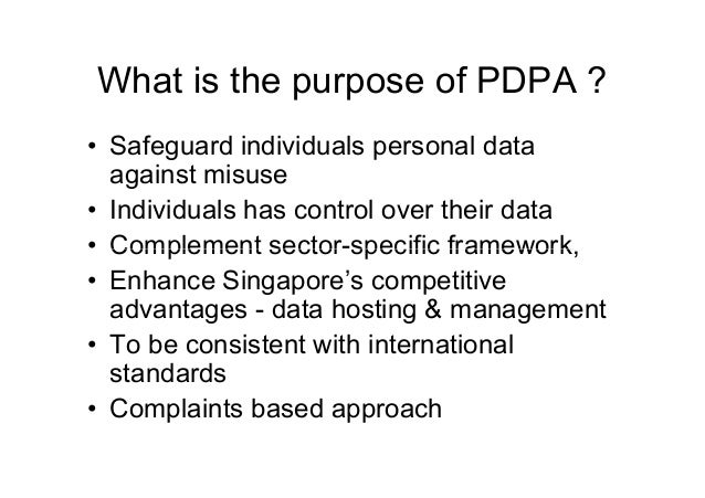 Highlights Of The Singapore Personal Data Protection Act 2012