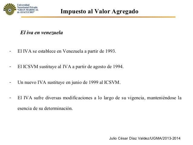 14. unidad iv. tema 14.- el impuesto al valor agregado