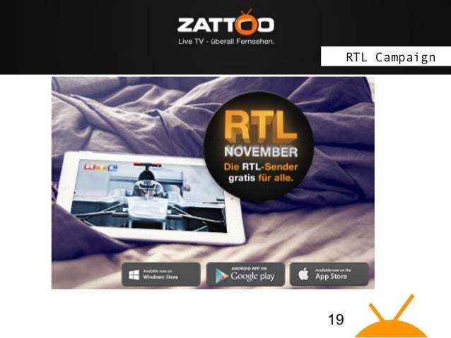 """The idea: Zattoo brings Live TV on """"connected devices"""" RTL Campaign  19"""
