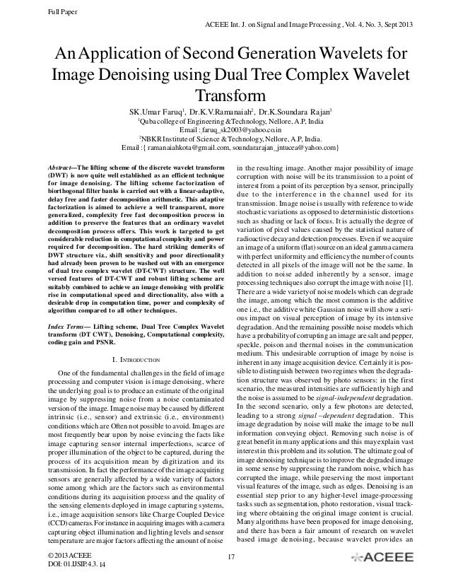 An Application of Second Generation Wavelets for Image