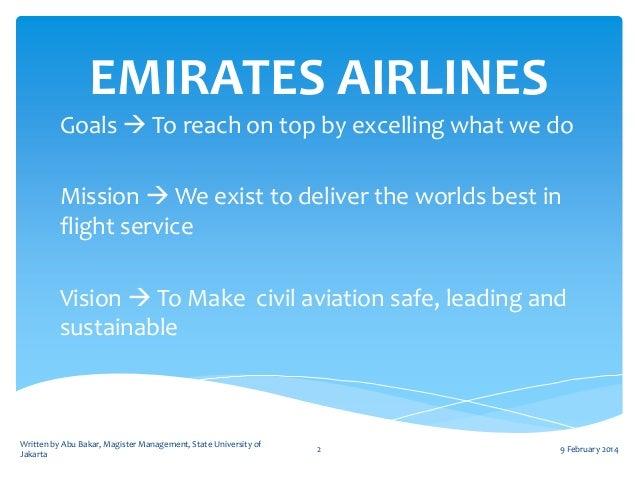 emirates airline mission statement 2019