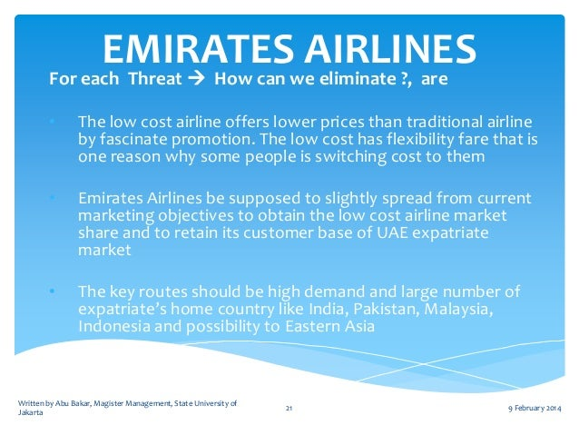 a strategic report on emirates airlines Emirates growth strategy on track in addition to emirates' view on alliances and strategic partnerships annual reports.