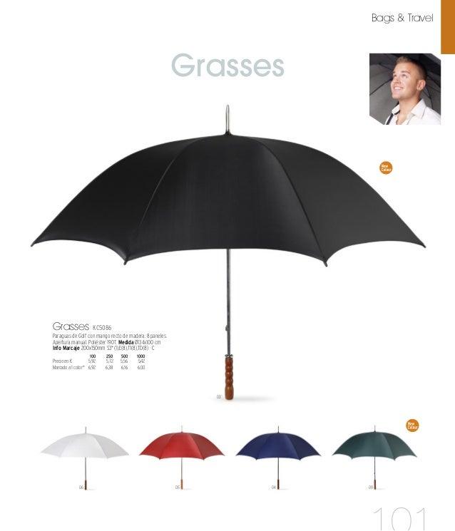 Gruso 04 03 07 Gruso KC5187 Paraguas de golf manual con mango de espuma. 8 paneles. Poliéster 190T. Medida 76xØ130 cm Info...