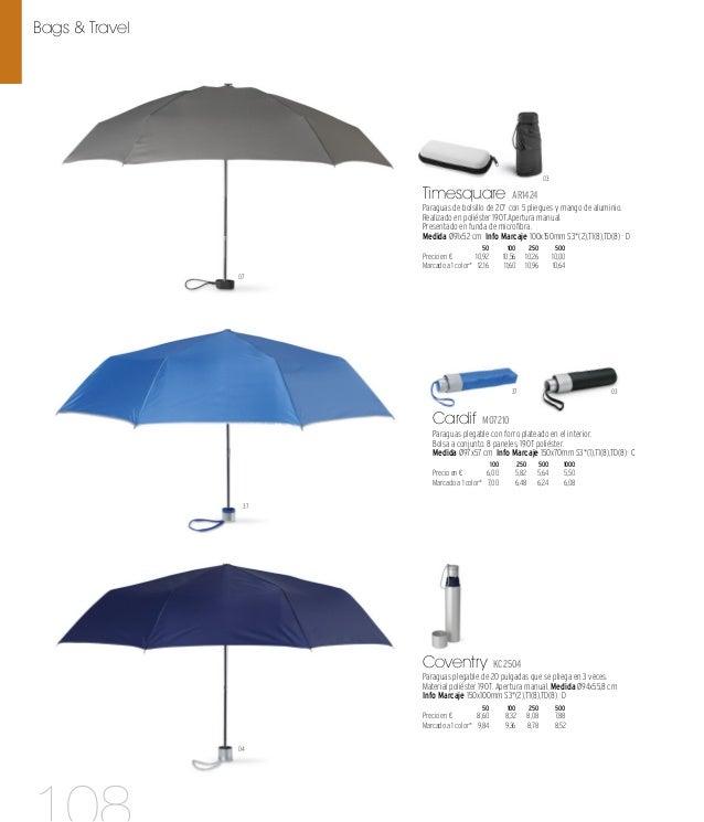 07 03 07 Diplomatic MO7719 Paraguas plegable de 3 pliegues y 8 paneles con mango de madera y funda a conjunto. Apertura au...