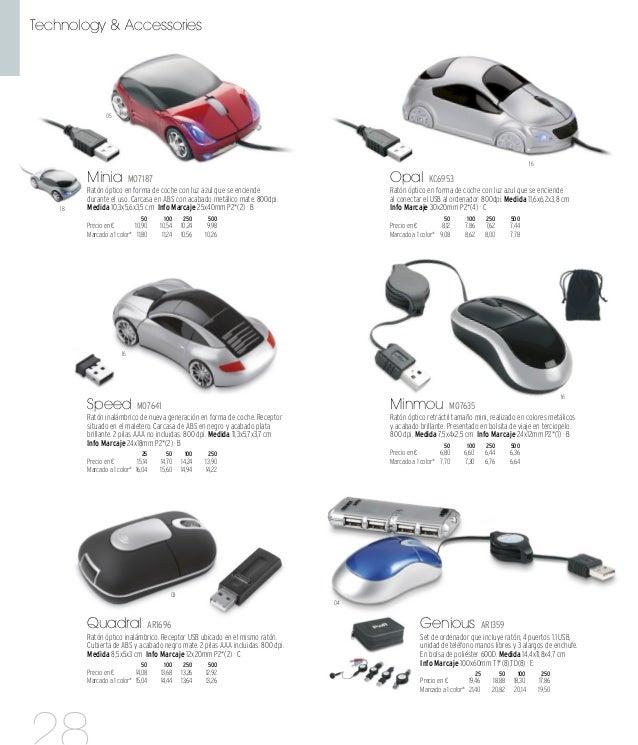 03 03 03 03 p.289 Comfort AR1694 Ratón óptico ultra fino con conector y 4 puertos USB 2.0 realizados en material PU. Prese...