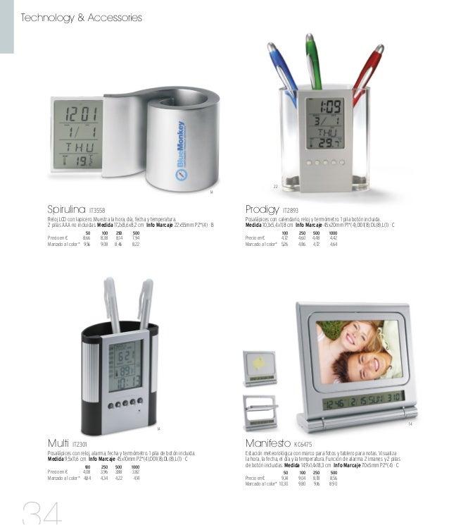 14 14 16 03 Physic IT2895 Estación meteorológica de sobremesa con reloj, calendario, termómetro y pantalla de colores. 1 p...