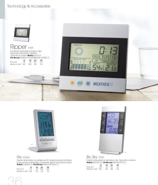 16 16 03 03 Tokyo IT3812 Estación meteorológica con pantalla de LCD con retroiluminación de color en estructura negra. Ind...