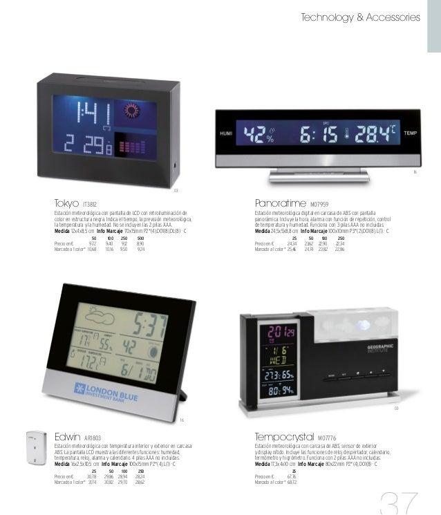 06 16 06 Stacey MO8162 Estación meteorológica con alarma, calendario, fecha, hora y opción de posponer la alarma. 2 pilas ...