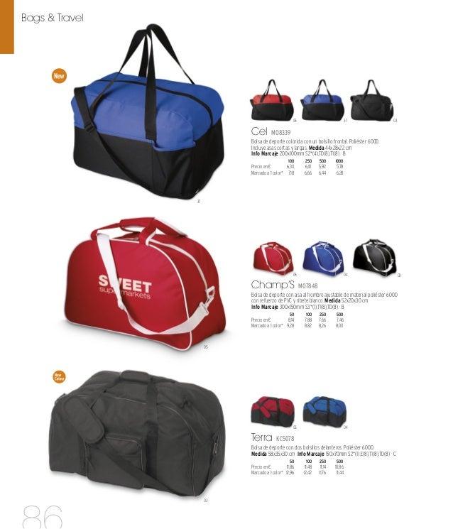 04 07 03 04 05 Ronda KC5182 Bolsa de viaje o de deporte hecha de poliéster con varios bolsillos. Poliéster 600D. Medida 55...