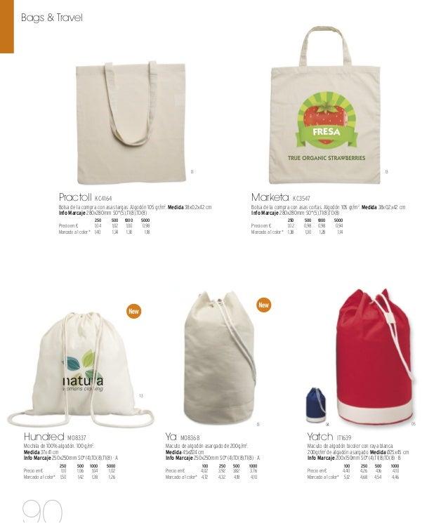 06 05 10 04 08 48 38 03 Cottonel IT1347 Bolsa de la compra de algodón con asas largas. 105 gr/m2 . Medida 38x0,2x42 cm Inf...