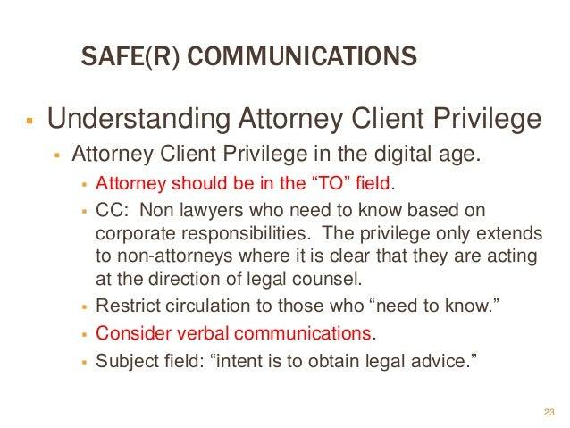 Attorney Client Privilege Non-Attorney
