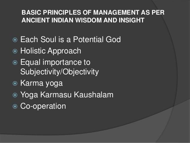 WISDOM AND MANAGEMENT