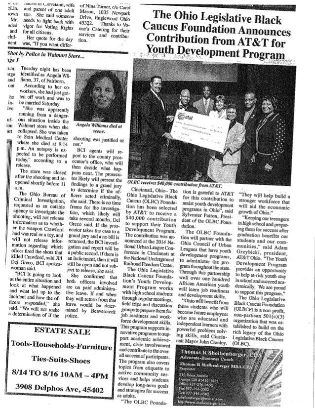 14.8.14 dayton weekly news   olbc foundation contribution