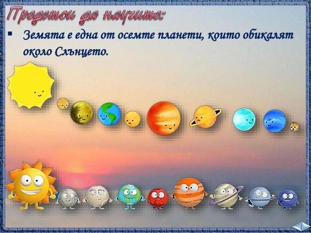 Всеки ден виждаме как  Слънцето изгрява, издига  се на небето и след това  залязва. Затова ни се  струва, че Слънцето се  ...
