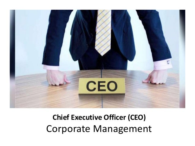 chief executive officer The chief executive officer (ceo) is the top position in an organization and is responsible for implementing existing plans and policies, ensuring the successful management of the business and setting future strategy.