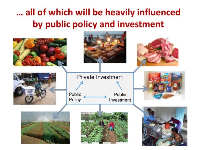 … all of which will be heavily influenced by public policy and investment Private Investment Public Policy Public Investme...