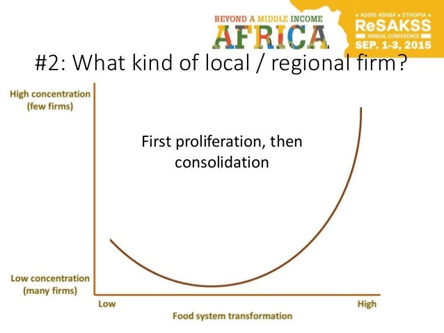 #2: What kind of local / regional firm? First proliferation, then consolidation
