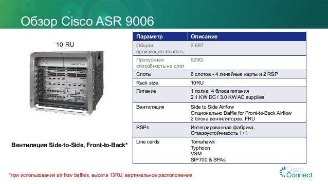 Развитие платформы ASR 9000