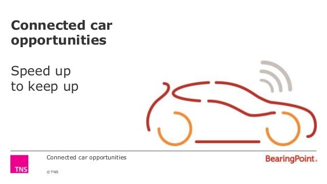Connected car opportunities © TNS Connected car opportunities Speed up to keep up