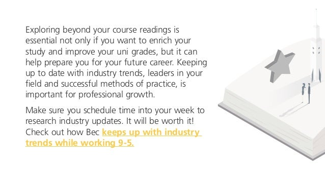 Exploring beyond your course readings is essential not only if you want to enrich your study and improve your uni grades, ...