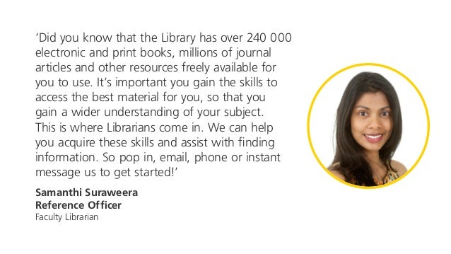 'Did you know that the Library has over 240 000 electronic and print books, millions of journal articles and other resourc...
