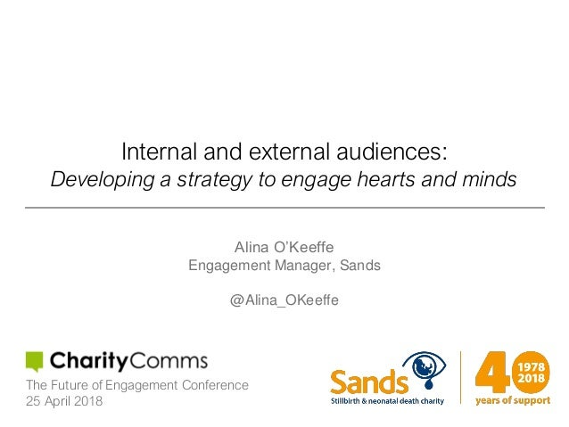 Internal and external audiences: Developing a strategy to engage hearts and minds Alina O'Keeffe Engagement Manager, Sands...