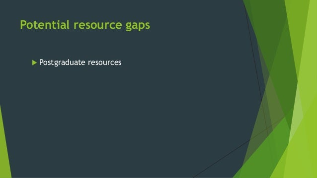  Postgraduate resources  Non-academic collections Potential resource gaps