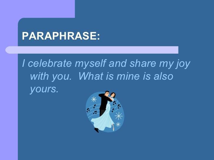 Paraphrasing in apa describe yourself