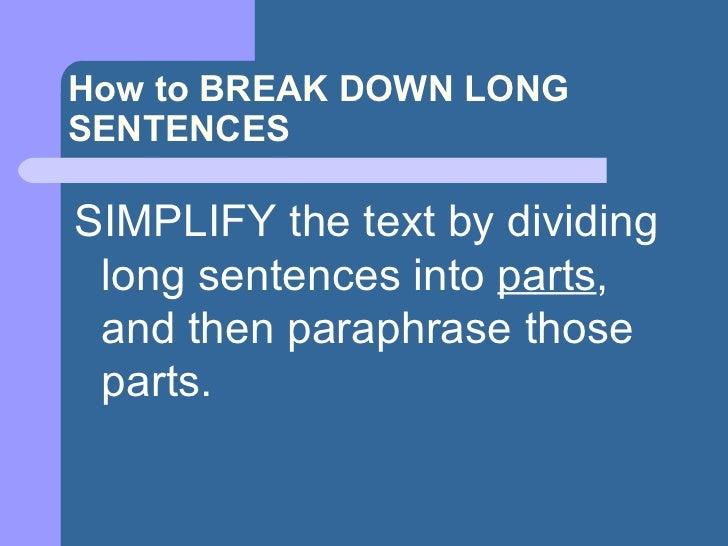 Paraphrasing powerpoint slides