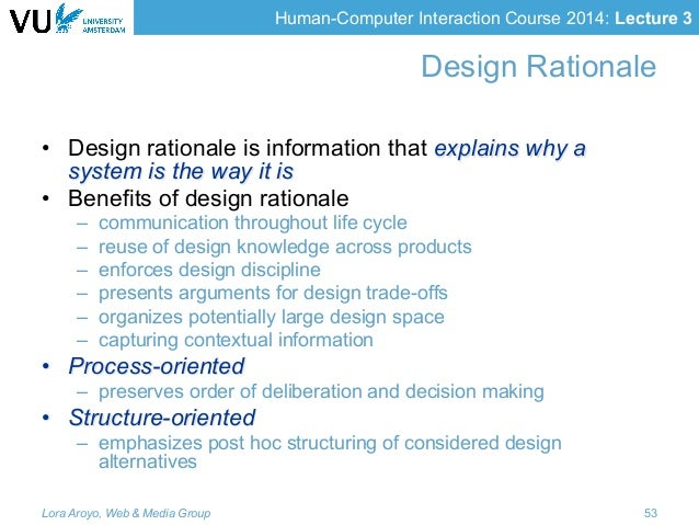 Classroom Design Rationale ~ Lecture human computer interaction hci design