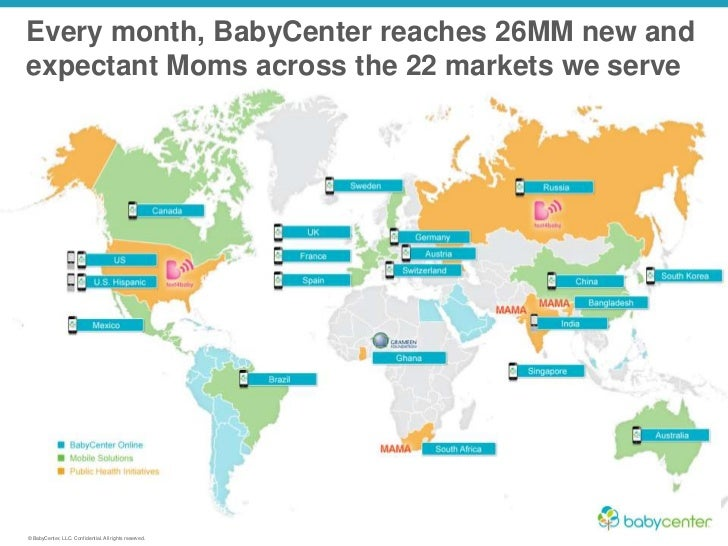 Every month, BabyCenter reaches 26MM
