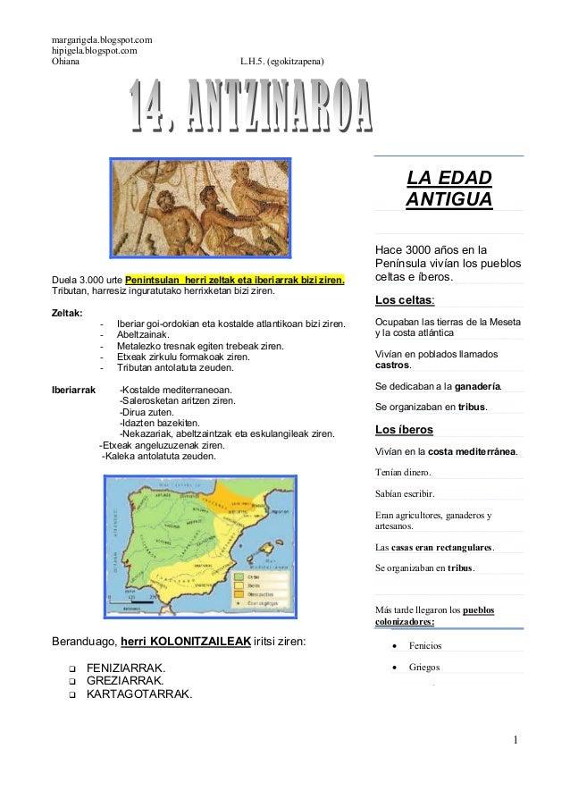 margarigela.blogspot.comhipigela.blogspot.comOhiana L.H.5. (egokitzapena)1Duela 3.000 urte Penintsulan herri zeltak eta ib...