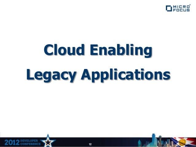 Cloud EnablingLegacy Applications        12