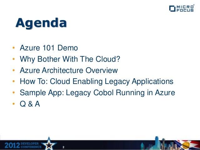 Building COBOL Applications for Microsoft Azure Slide 2