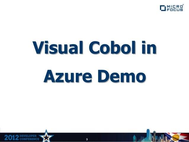 Building COBOL Applications for Microsoft Azure Slide 3
