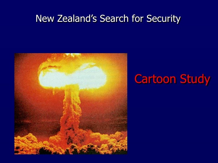 New Zealand's Search for Security<br />Cartoon Study<br />