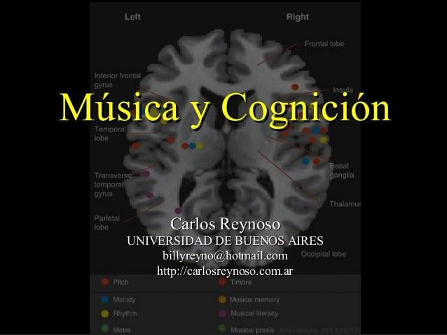 Música y CogniciónMúsica y Cognición Carlos ReynosoCarlos Reynoso UNIVERSIDAD DE BUENOS AIRESUNIVERSIDAD DE BUENOS AIRES b...