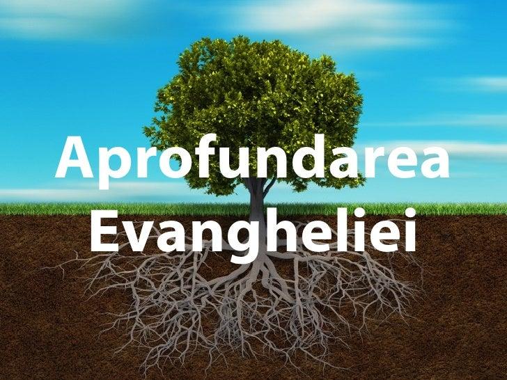 Growing DeepAprofundarea Evangheliei